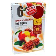 Hộp 6 nến thơm tinh dầu Tealight QT026121 hương táo, quế