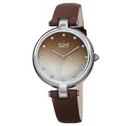 Đồng hồ thời trang nữ Burgi BUR225BR Mặt Số Ombre Nâu Dây Da 34mm