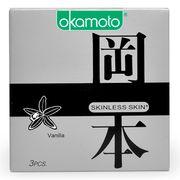 Bao Cao Su Okamoto Skinless Skin Vanilla Hương Vani Hộp 3 Cái