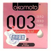 BCS Okamoto 003 Hyaluronic Acid Siêu Mỏng Dưỡng Ẩm Bôi Trơn Hộp 3 Cái