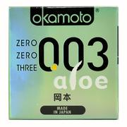 Bao Cao Su Okamoto 003 Aloe Tinh Chất Lô Hội Hộp 3 Cái