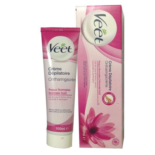 Kem tẩy lông Veet pháp 100ml màu hồng dành cho da thường - hiệu quả sau 3 phút
