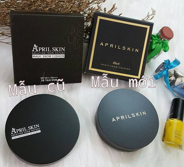 Phấn nước April Skin Magic Skin Snow Cushion SPF50 3