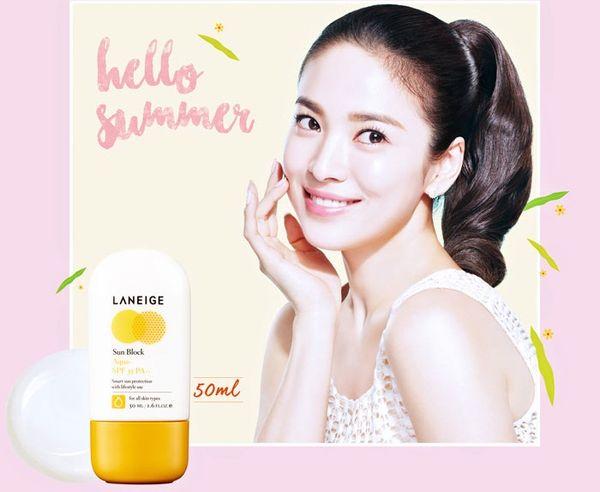 Kem chống nắng Laneige Sun Block Aqua SPF 35 PA++ tăng cường khả năng bảo vệ da khỏi tác hại của ánh nắng mặt trời