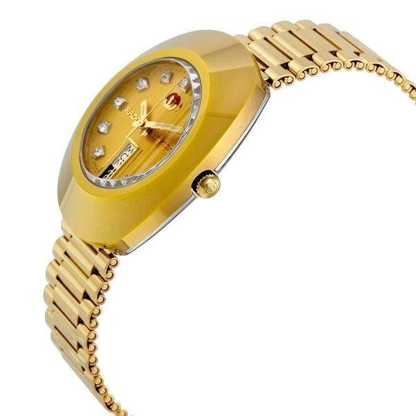 Case và dây đồng hồ chất liệu thép không gỉ được mạ vàng công nghệ PVD cao cấp bền màu, sáng đẹp