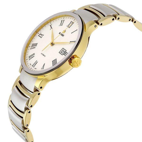 Case của chiếc đồng hồ Rado nam này được mạ vàng sang trọng