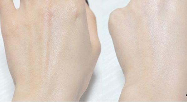 Khi thoa lên da hơi lên tông nhẹ, công thức mỏng nhẹ, thấm nhanh vào da không nhờn dính