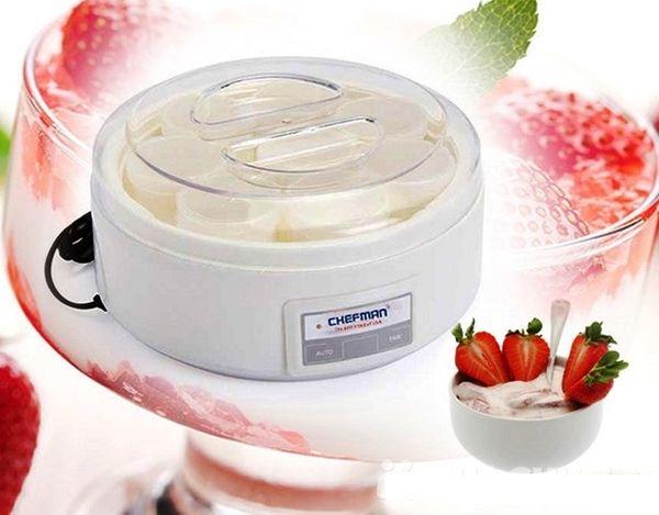 Máy làm sữa chua 16 cốc Chefman CM-301 giúp làm sữa chua ngon hơn, đảm bảo hơn
