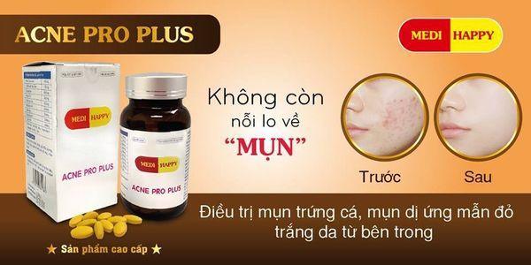 Công dụng Viên uống trị mụn Medi Happy Acne Pro Plus